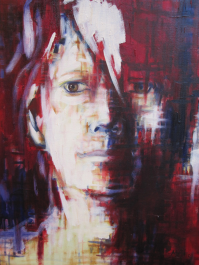 self portrait one abstract faces monrud artist